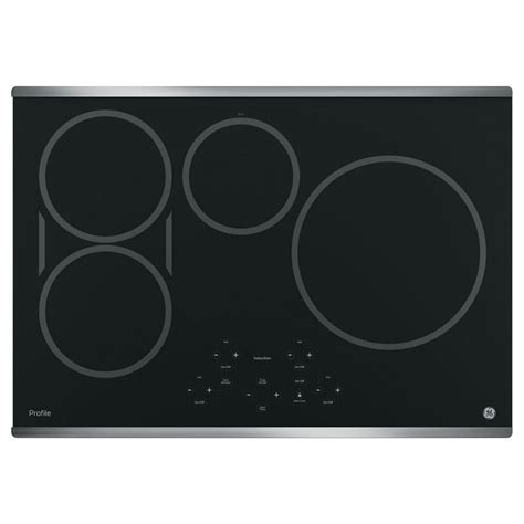 ceramic cookware on induction cooktop php9030sjssge profile 30 quot induction ceramic cooktop stainless steel standard tv appliance