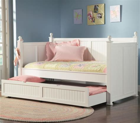 White Bed With Trundle by Daybed Day Bed Trundle Set White Wood Bedroom New Ebay