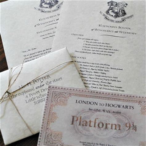 Hogwarts Acceptance Letter Create Your Own Your Own Harry Potter Hogwarts From Nikinut On Etsy