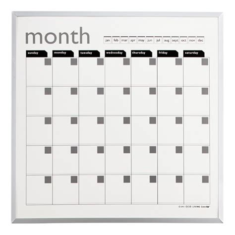 Magnetic Calendar Magnetic Monthly Planner The Container Store