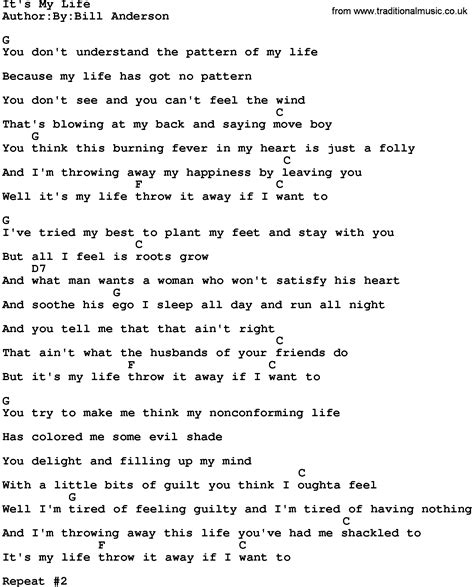 printable lyrics best day of my life country music it s my life lyrics and chords