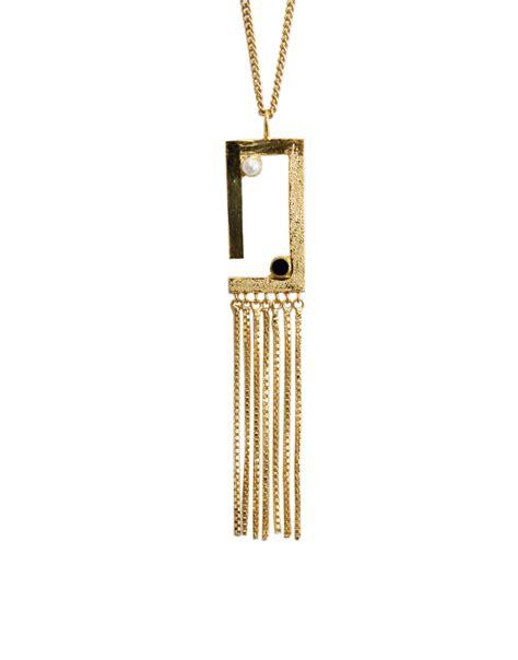 Tetris Necklace golden tetris necklace hyperbole accessories