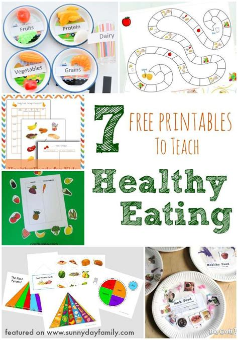printable health games for adults teach kids about healthy eating with these fun free