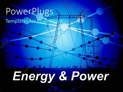 Ppt Templates Free Download Electrical | powerpoint template power line carriers with small