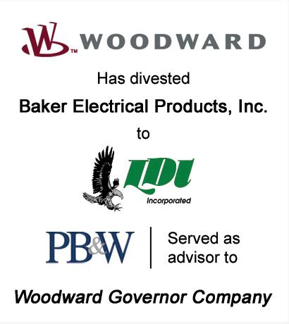 woodward governor has divested baker electrical products