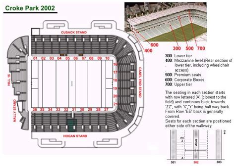 croke park interactive seating plan an fear rua visual guide to croke park seating