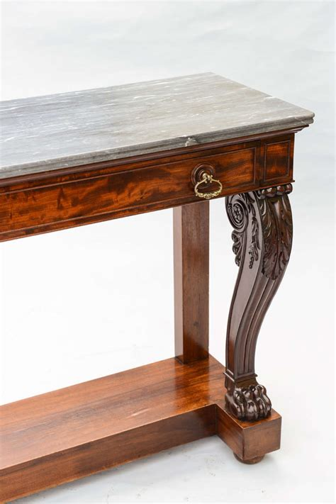 marble top sofa tables console table with marble top at 1stdibs