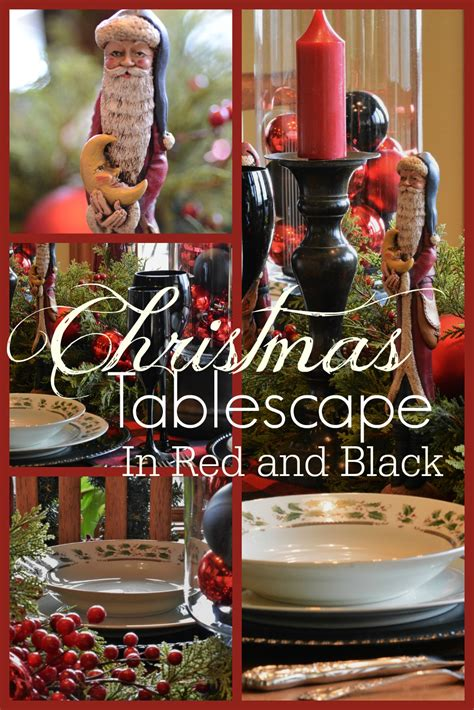 black and red christmas tablescapes tablescape in and black