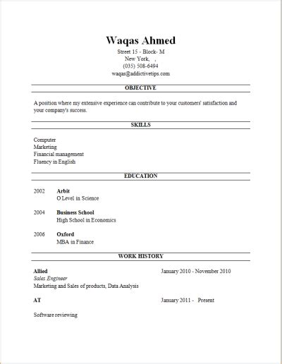 resume template generator quickly create a professional resume with career igniter