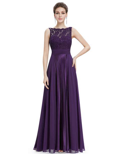Bj Side Line Dress Purple gorgeous neck lace purple bridesmaid