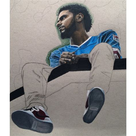 Drawing J Cole by J Cole 2014 Forest Drive Wip 3 By Wega13 On Deviantart