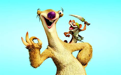 wallpaper cartoon ice age sid ice age wallpaper 1920x1200 80333