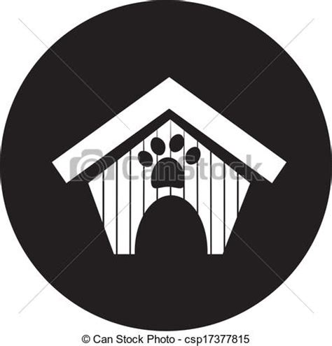 dog house line vector clip art of dog house icon csp17377815 search clipart illustration drawings