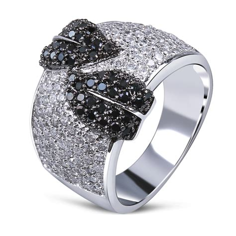 vintage rings for white gold plated cubic zirconia