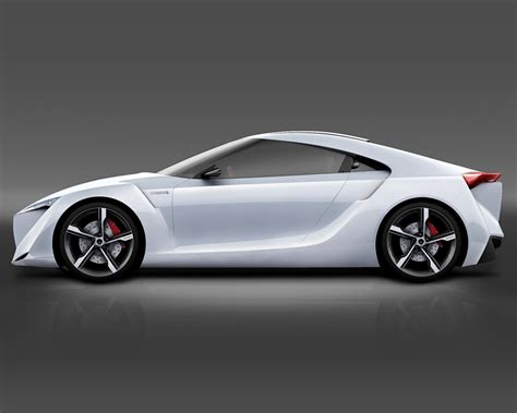 auto toyota el toyota ft hs hybrid sports concepto de coche deportivo
