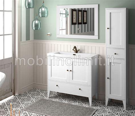 mobili bagno vintage mobile bagno bianco vintage con lavabo serie toscana l 90