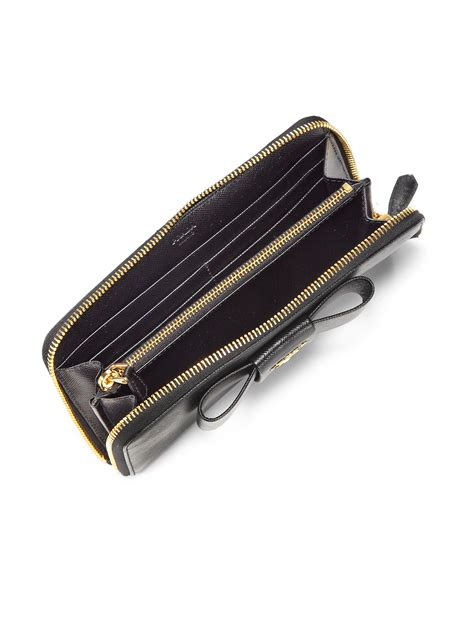 Handbag Wallet Black prada zip wallet black prad handbags