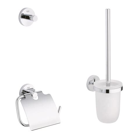 Bathroom Accessory Kits Delta Foundations 3 Bath Accessory Kit In Stainless Steel Fnd63 Ss The Home Depot