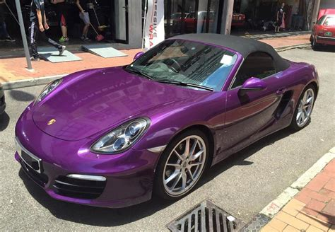 dark purple porsche midnight purple porsche boxster by impressive wrap
