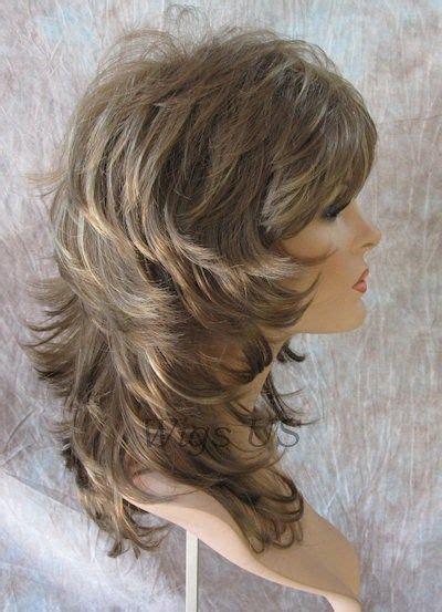 medium layered volume full hairstyles medium wig light brown dark blonde wavy multi layers