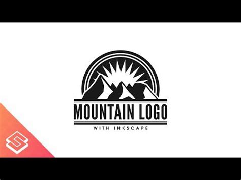 design a logo for free in inkscape inkscape for beginners vector mountain logo tutorial