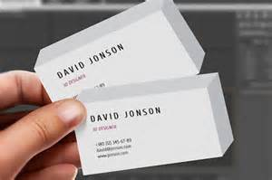 business card 3d template business card design trends of year 2014