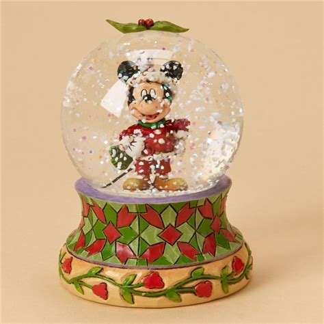 traditional christmas snowglobes mickey mouse disney traditions snow globe by jim shore 4023561 flossie s gifts