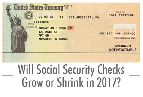 Background Check With Social Security Will Social Security Checks Grow Or Shrink In 2017 Self Directed Ira