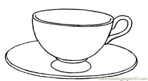 free teacup and saucer coloring pages
