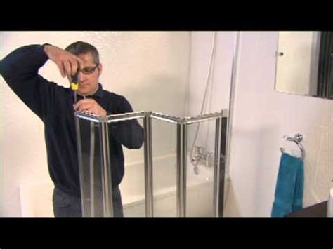 Folding Shower Screen For Bath aqualux aqua 4 fold bath screen video installation guide