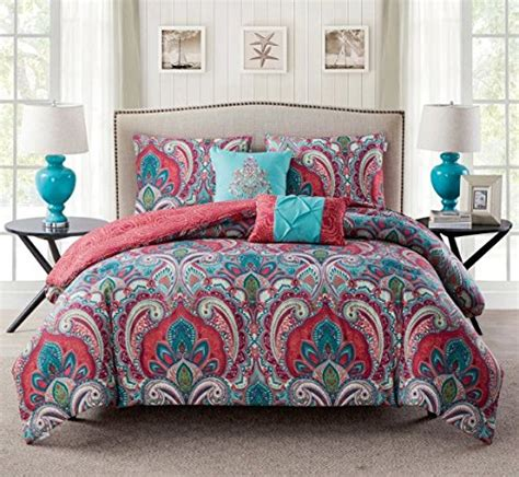 paisley comforter queen 5 piece girls paisley themed comforter full queen set