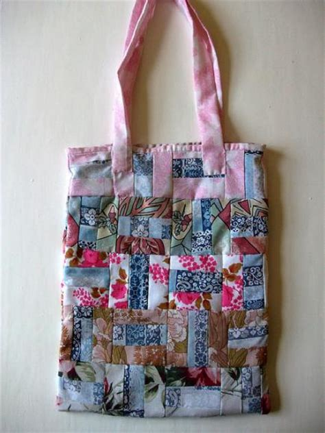 Burda Patchwork - patchwork tote bag sewing projects burdastyle