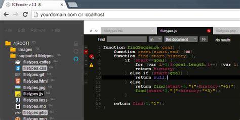 web design code editor icecoder a web ide browser based code editor designbeep