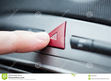 light hazard hazard lights button stock photography image 29902802