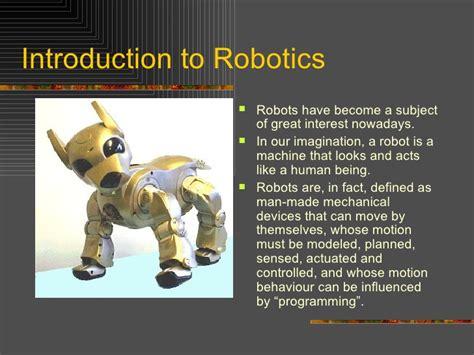 slides for ppt on robotics introduction to robotics