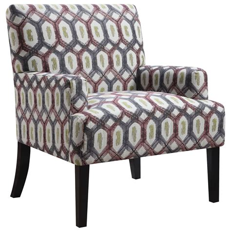 geometric pattern accent chair from coaster 902620