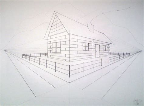 Drawing 2 Point Perspective From Plan by Two Point Perspective House By G4rr3tt18 On Deviantart