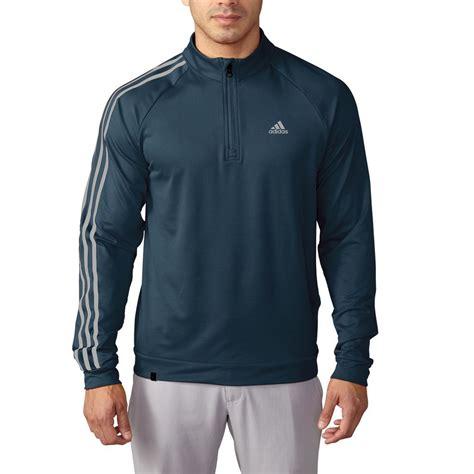 Sweater Azzurra 557 27 adidas golf 2016 3 stripes sleeve 1 4 zip pullover mens golf sweater ebay