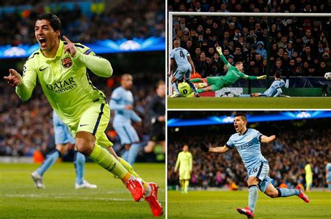 barcelona vs manchester city manchester city 1 2 barcelona luis suarez scores twice