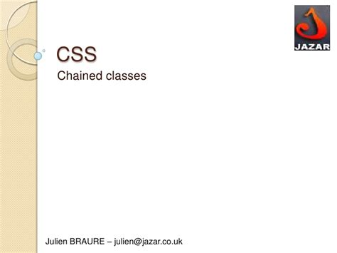 css tutorial powerpoint css chained classes