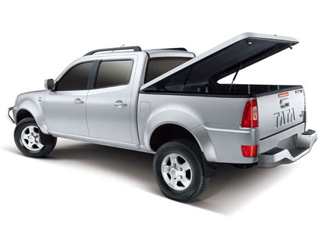 lada living colors tata xenon xt in arctic silver color back side view with