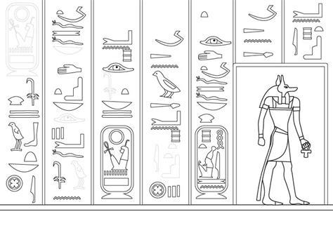 Dibujos De Jelogrificos | jerogl 237 ficos egipcios dibujo para colorear e imprimir