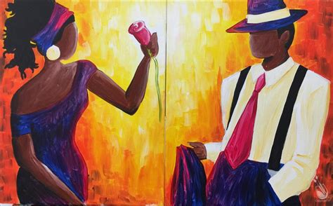 paint nite for couples mahogany couples set date friday march