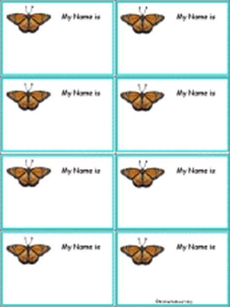 penguin nametags to print in color enchantedlearning com monarch butterfly nametags to print in color