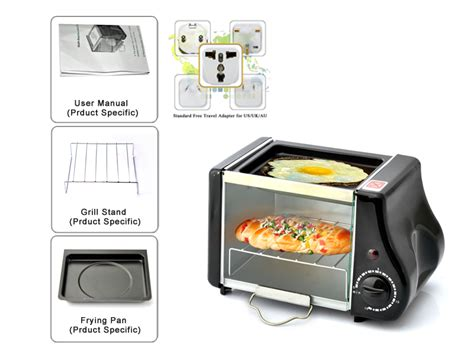 Bsw Mini Oven Toaster Cooker Timer 6 Liter crunchy mini electric toaster oven 220 watt power 1 6