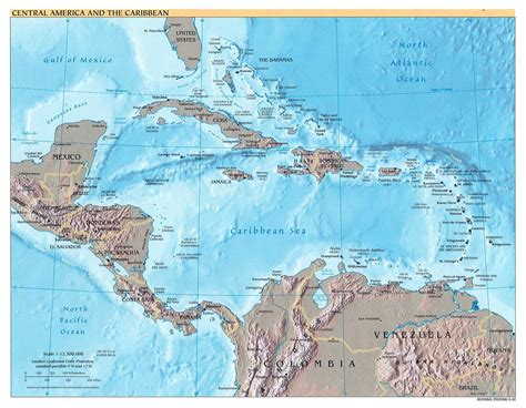 interactive map of central america and caribbean central america and the caribbean political map