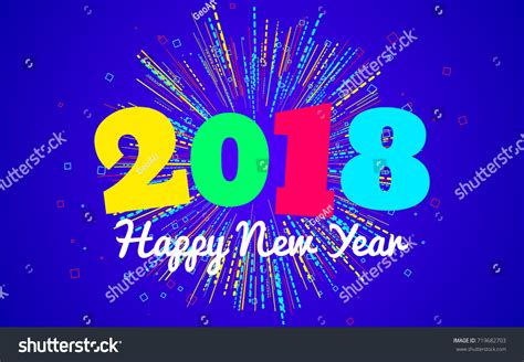 seasons greetings and new year 2018 e cards happy new year 2018 background modern stock vector 719682703