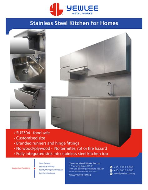 Stainless Steel Kitchen System Yew Lee Metal Works Pte Ltd   yew lee metal works pte ltd