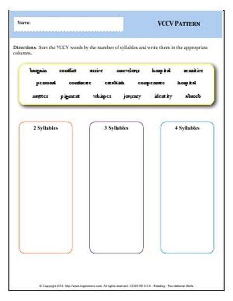 vccv pattern meaning rf 5 3 a fifth grade english worksheets biglearners