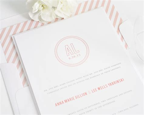 monogram wedding invitations chic monogram wedding invitations wedding invitations by